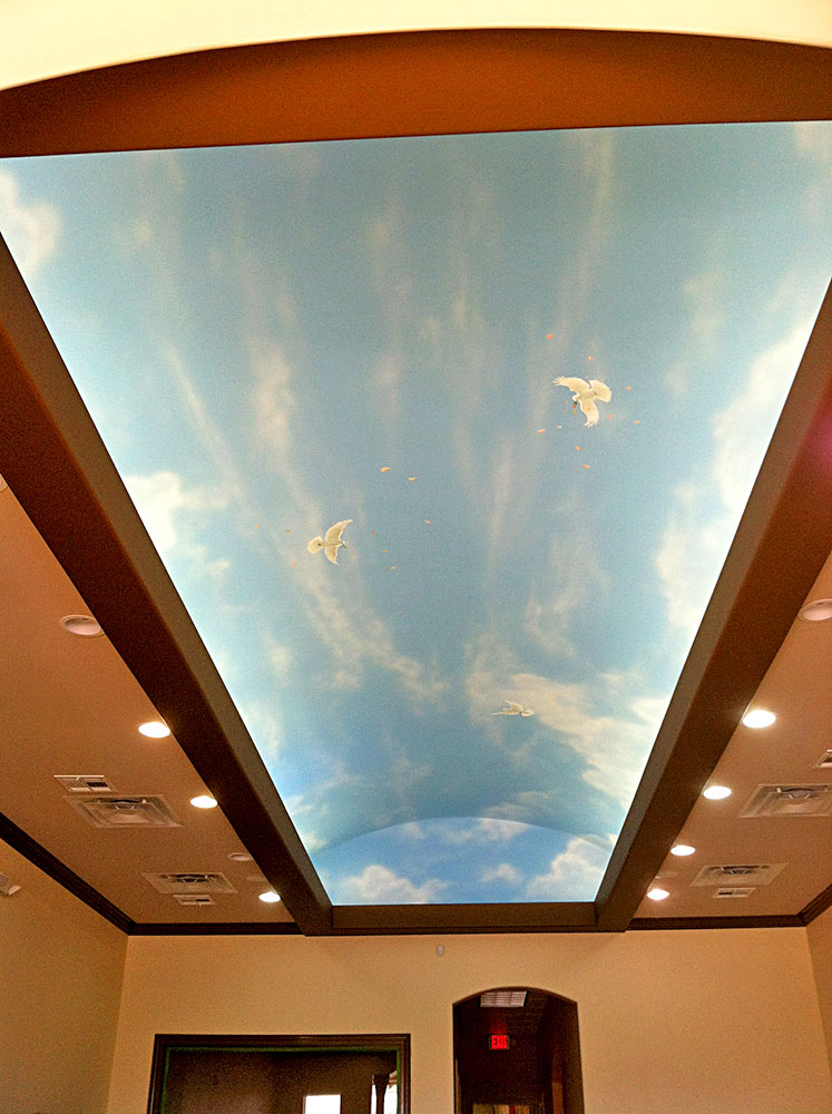Sky ceiling mural buy wholesale ceiling murals wallpaper for Ceiling sky mural