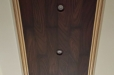 Wood ceiling. Decorative painting