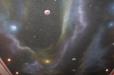 Stars, space, nebula. Media room ceiling