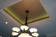 Faux finish gold metallic ceiling
