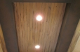 Faux wood ceiling mural