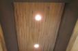 Faux wood ceiling mural