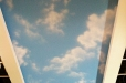 Blue sky ceiling mural