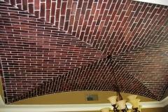 Faux brick ceiling 2