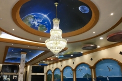 Planet nail and bar Ceiling Mural