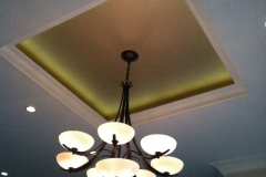 Faux finish gold metallic ceiling