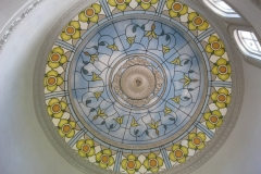 Faux stain glass dome