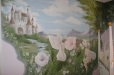 Castle with fairy's. Nursery mural, fairy theme