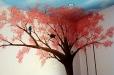 Natural life. Bird and tree