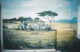 African savana. Child's play room mural. Safari theme