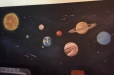 space theme mural boys room