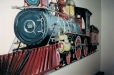 Child's room mural, Train.