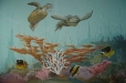 Child's room mural, underwater life theme