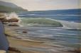 Seascape, beach mural. Child's room mural. Ocean theme