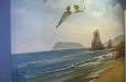 Seascape, beach mural. Child's room mural. Ocean theme