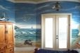 Child's room mural. Nautical theme