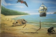 Seascape, beach mural. Pediatric Clinic Mural, Nautical theme