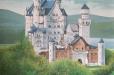 Girl's room mural, Castle theme
