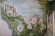 Castle with fairy's. Nursery mural, fairy theme