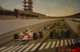 Indy 500. Boy's room mural. Race car track.