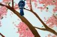 Natural life. Bird and tree - detail