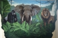 Jungle mural. Boy's Room