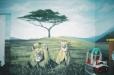 African savana. Child's play room mural. Safari theme