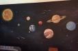 space theme mural boys room