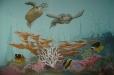Child's room mural, underwater life theme