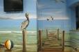 Seascape, beach mural. Pediatric Clinic Mural, Nautical theme