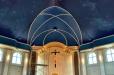 St Martha's Catholic Church Star field ceiling with gold strips