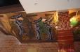Mexican style mural, Cielo Restaurant. Houston, Texas