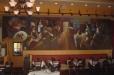 Abstract mural, Mia Bella restaurant, Andalucia Tapas Spanish Restaurant and Bar