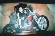 The Monkey Bar mural. Kemah, Texas