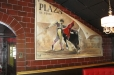 Trompe l'oeil. Bull Fight poster, Majorca Bistro and tapas. Houston, Texas