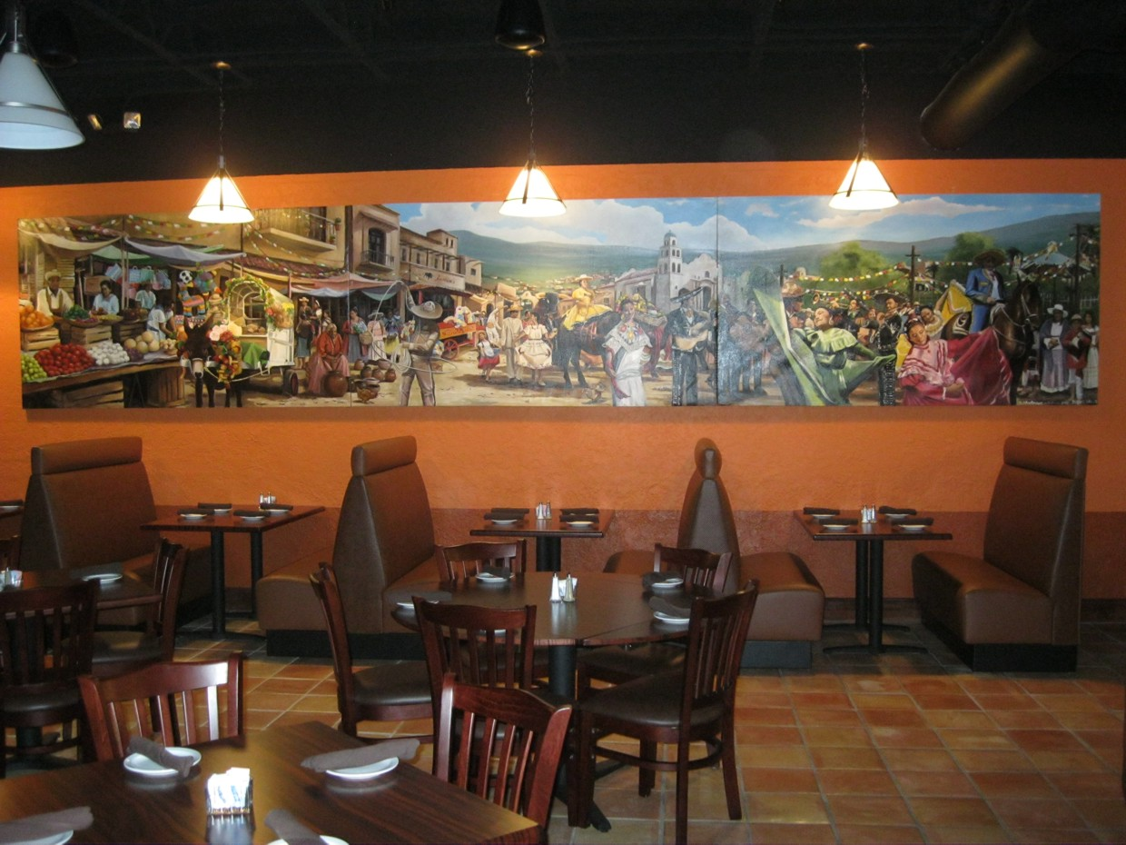 Dream walls commercial custom murals houston texas for Mural restaurant