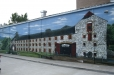 Outdoor mural of Irish brewery. Celtic gardens. Houston, Texas