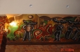 Mexican style mural, Cielo Restaurant. Houston, Texas