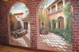Faux brick, Mexican Hacienda Mural. Don Ramon's Fine Mexican Restaurant. Houston, TX