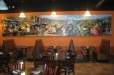 Painting on canvas, Mexican market and celebration. Don Ramon's Fine Mexican Restaurant. Houston, TX