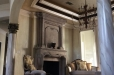 Faux finish on walls, ceiling, fireplace and faux marble columns