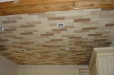 Faux finish ceiling, hand painted brick