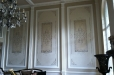 Decorative painting. Dinningroom walls stencil