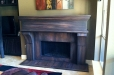 Faux finish. Decorative fireplace