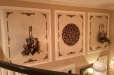 Metallic Faux finish on Wood Overlay and Decorative pieces