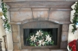 Faux stone, fireplace