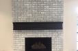 Hand painted fireplace Brick