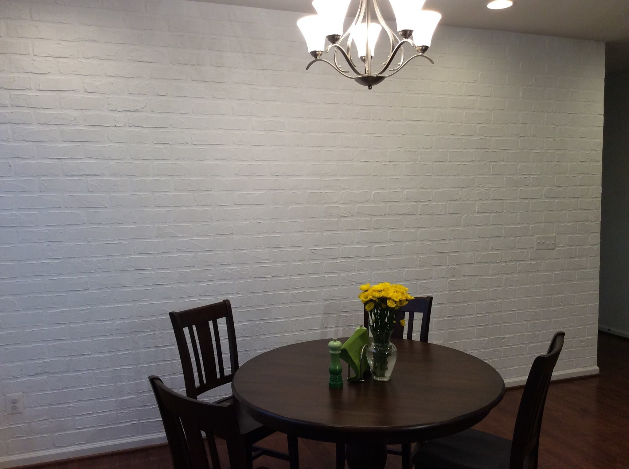 Faux Brick Wall Made With Plaster