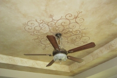 Decorative painting. Ceiling