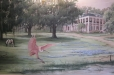 Louisiana Plantation Home.Mural on Canvas